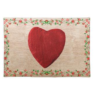 Rosenrahmen mit Herz Tischset
