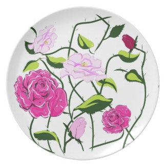 Rosenteller,roses plate teller