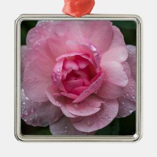 Rosentropfen Silbernes Ornament