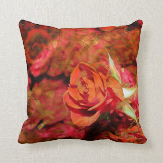 Roserotes rosa orange lila Throw-Kissen Zierkissen
