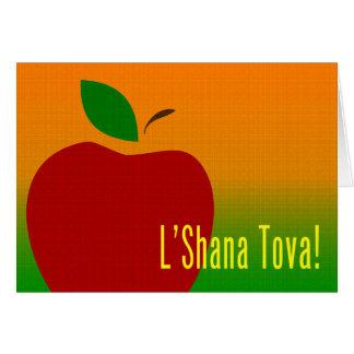 rosh hashanah Apfel Karte