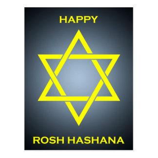 rosh hashanah (Davidsstern) Postkarte