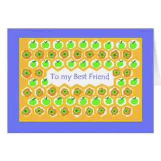 Rosh Hashanah Gruß-Karte für einen besten Freund Karte