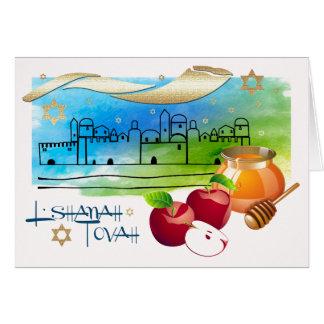 Rosh Hashanah | jüdische neues Jahr-Gruß-Karten Karte