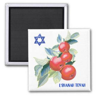 Rosh Hashanah | jüdische neues Quadratischer Magnet