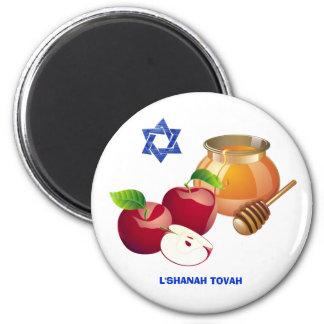 Rosh Hashanah | jüdische neues Runder Magnet 5,7 Cm