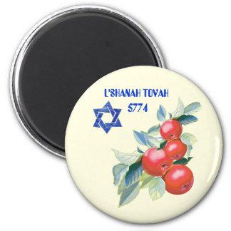 Rosh Hashanah. Jüdischer neues Runder Magnet 5,7 Cm
