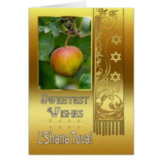 Rosh Hashanah jüdisches neues Jahr - L'Shana Tova Karte