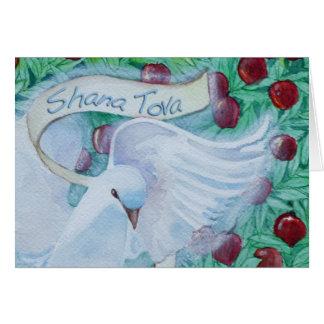 Rosh Hashanah Shana Tova tauchte mit Äpfeln Karte