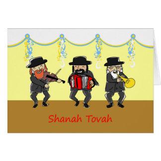 Rosh Hashanah, Shanah Tovah, Hebräer, Klezmer Band Karte