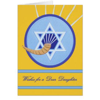 Rosh Hashanah Wünsche für Tochter Karte