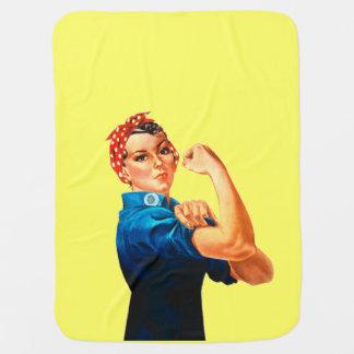 Rosie das Plakat des Nieteneinschläger-WWII Kinderwagendecke