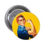 Rosie der Nieteneinschläger-Knopf Buttons