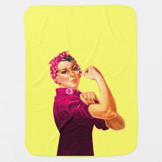 Rosie der Nieteneinschläger - Krebs-Rosa Kinderwagendecke