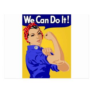 """Rosie der Nieteneinschläger """"wir können ihn tun"""" Postkarte"""