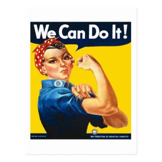 Rosie die Nieteneinschläger-Postkarte Postkarte