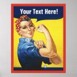 Rosie Nieteneinschläger mit fertigen Text Poster
