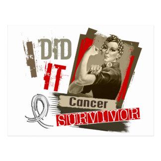 Rosie Sepia tat ich es Lunge Cancer.png Postkarte