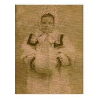 Rosie ZARFOS, bereiten für Schnee, circa 1895 vor Postkarte