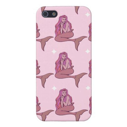 Rosige Meerjungfrauen iPhone 5 Etuis