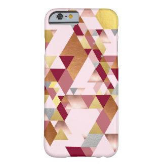Rosiger metallischer geometrischer barely there iPhone 6 hülle