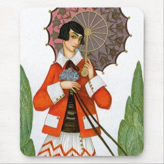 Rosiger Regenschirm Mousepad