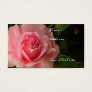 Rosiges Rosa Visitenkarte