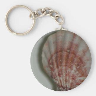 Rosiges Seashell keychain Schlüsselanhänger