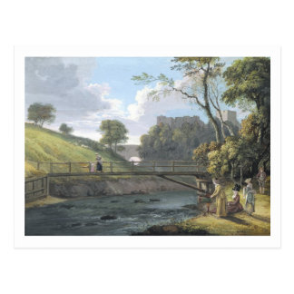 Roslin Schloss, Midlothian (w/c und Gouache auf Postkarte