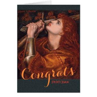 Rossetti Jeanne d'Arc Glückwunsch CC0763 Karte