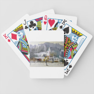 Roßholzen im Winter.jpg Bicycle Spielkarten