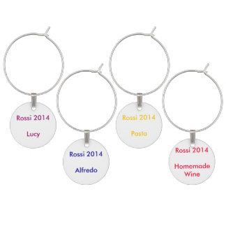 Rossi Famiy Wiedersehen-Wein-Charme Weinglas Anhänger