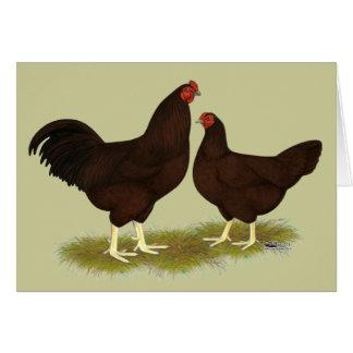 Rosskastanien-Hühner Karte