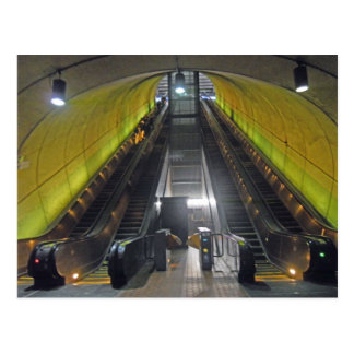 Rosslyn-Metro-Stations-Rolltreppen 001 Postkarte