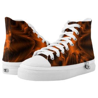 Rost-Achat Hoch-geschnittene Sneaker