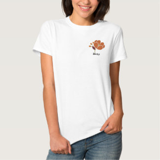 Rost-Blume personalisiert Besticktes T-Shirt