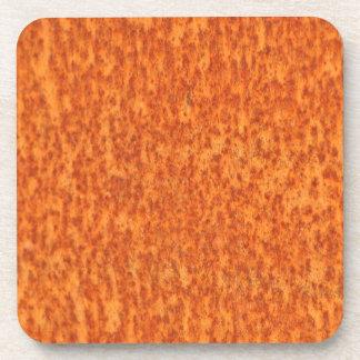 Rost-Effekt metallische orange Muster Untersetzer
