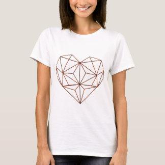 Rost-geometrischer Herzentwurf T-Shirt