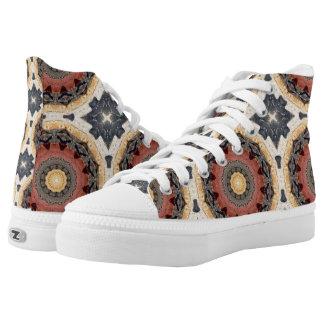 Rost-Mandala, Farben des Rosts Hoch-geschnittene Sneaker