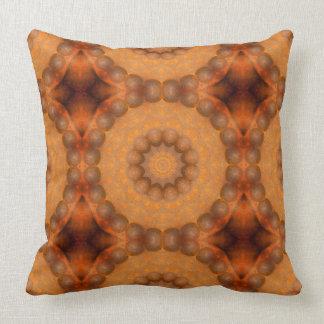 Rost-Mandala, Farben von Rust_744_3 Kissen