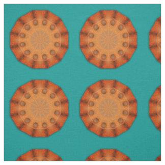 Rost-Mandala, Farben von Rust_744 Stoff