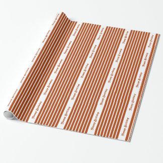 Rost-roter Safari-Streifen mit kundenspezifischem Geschenkpapier
