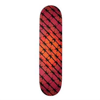 Rost-roter Stacheldraht Barb, der Orange einzäunt 18,4 Cm Mini Skateboard Deck