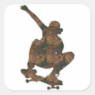 Rost Skateboard-Aufkleber Quadratischer Aufkleber
