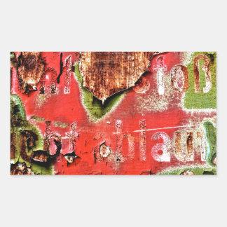 ROSTart_873.0c, Farben des Rosts Rechteckiger Aufkleber