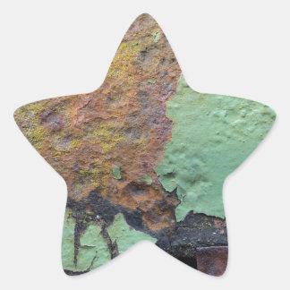 ROSTart_873.0c, Farben des Rosts Stern-Aufkleber