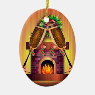 Rösten unseres ersten Weihnachten Keramik Ornament
