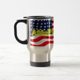 Rostfreie Steele Reise-Tasse mit Deckel Amerika Reisebecher