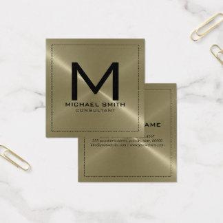 Rostfreies Metall Monogramm-elegantes modernes Quadratische Visitenkarte