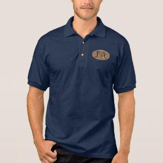Rostige F-Löcher Polo Shirt